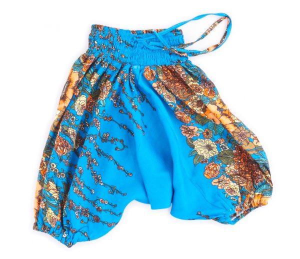 Zomer Baggy broek poppy-blauw