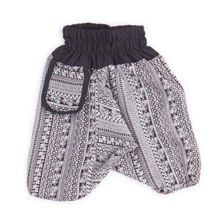Zomer Baggy broek streep-zwart/wit