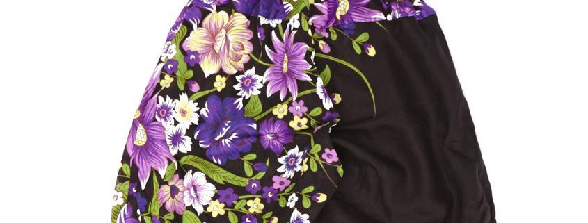 Zomer Baggy broek flower-paars