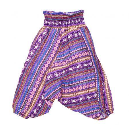 Zomer Baggy broek stripes-paars