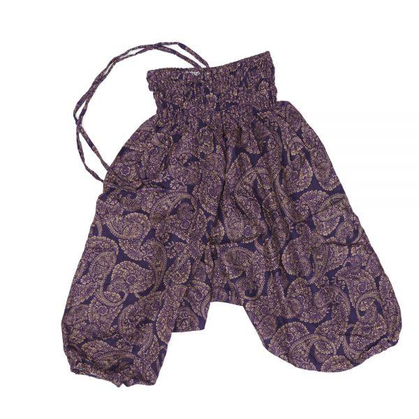 Zomer Baggy broek paisley-paars