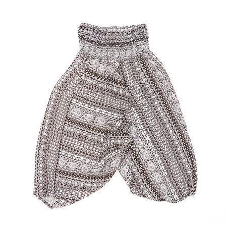 Zomer Baggy broek stripes-zwart/wit