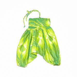 Zomer Baggy broek tie-dye groen