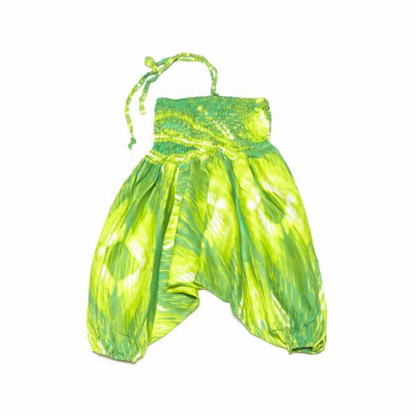 Zomer Baggy broek tie-dye-groen