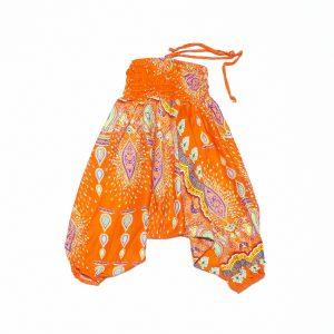Zomer Baggy broek boho oranje