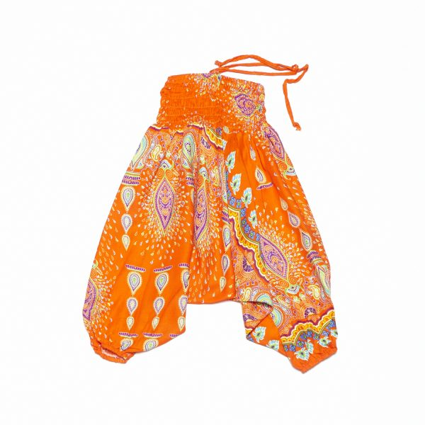 Zomer Baggy broek boho-oranje