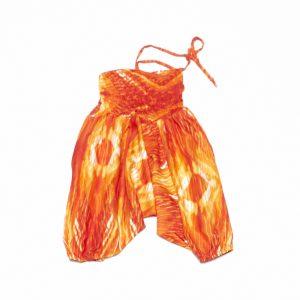Zomer Baggy broek tie-dye oranje