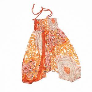 Zomer Baggy broek print oranje