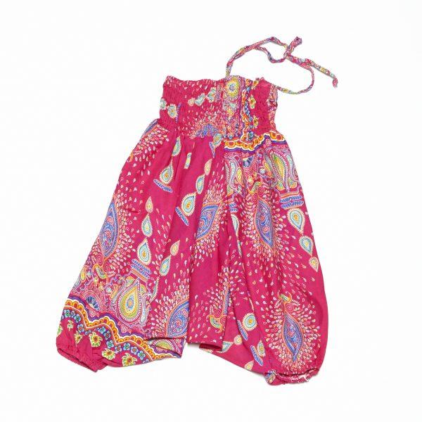 Zomer Baggy broek boho-roze