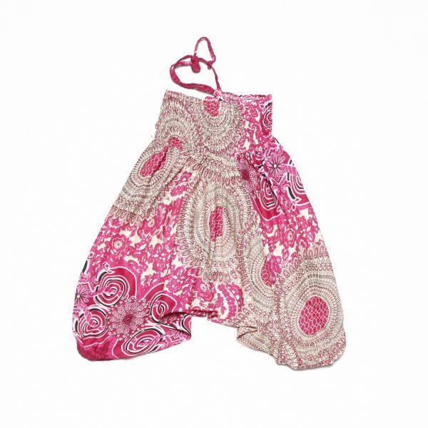 Zomer Baggy broek print-roze