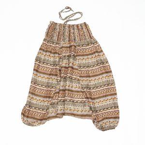 Zomer Baggy broek streep bruin