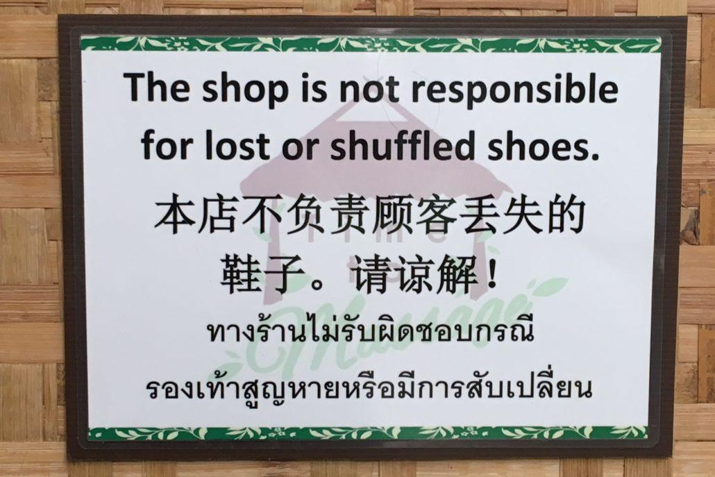 shuffled shoes