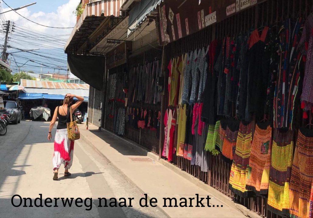 naar de markt in Chiang Mai